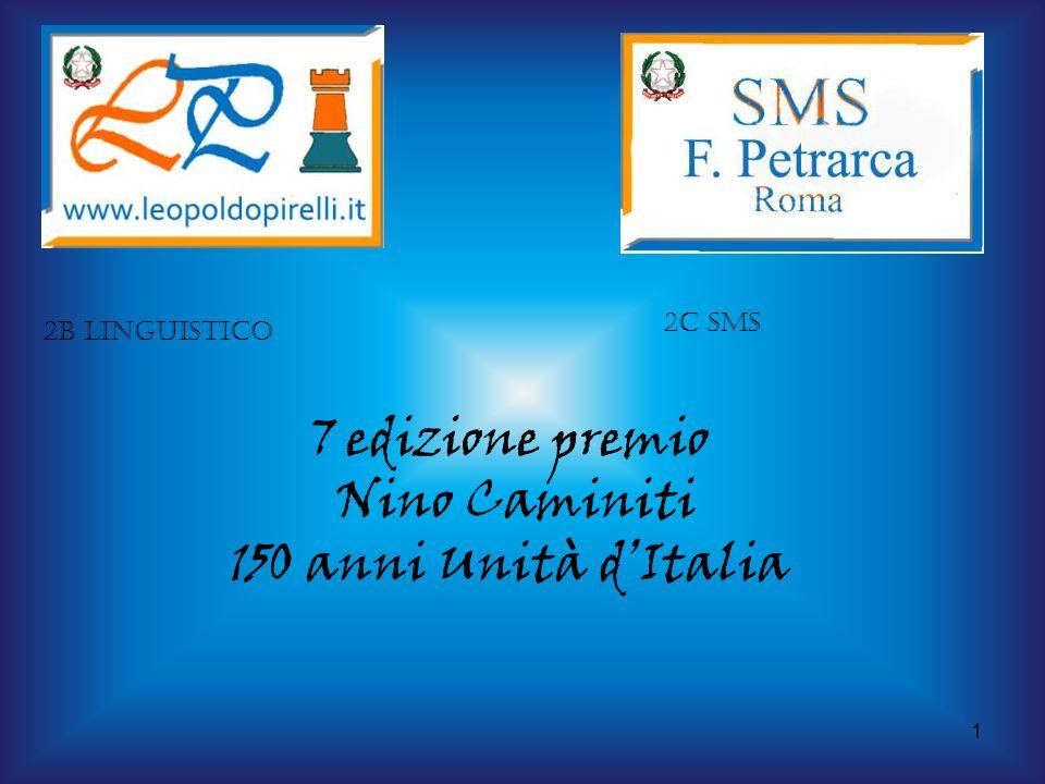 7 edizione premio Nino Caminiti 150 anni Unità d'Italia 2C sms
