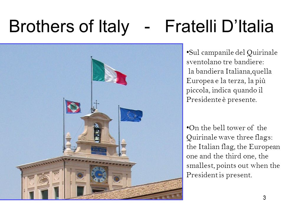 Brothers of Italy - Fratelli D'Italia