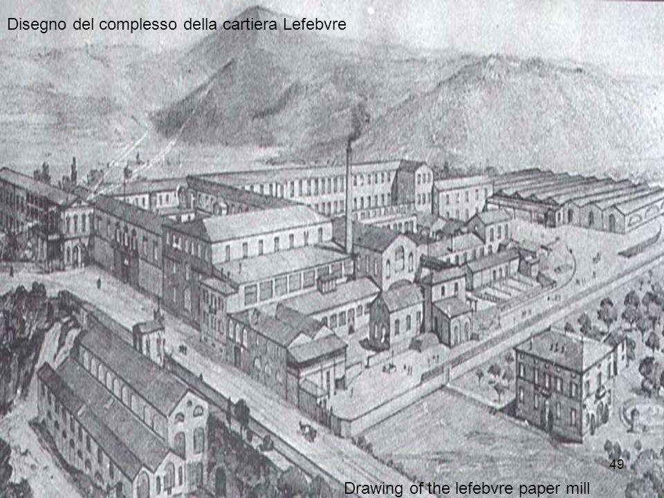 Disegno del complesso della cartiera Lefebvre