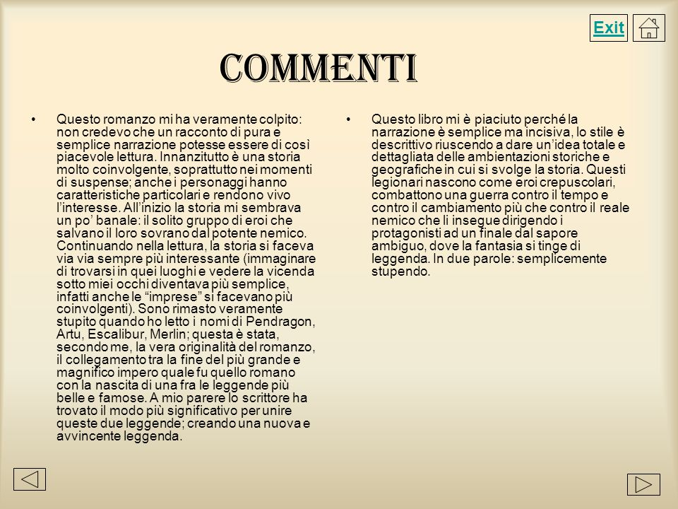 Exit Commenti.