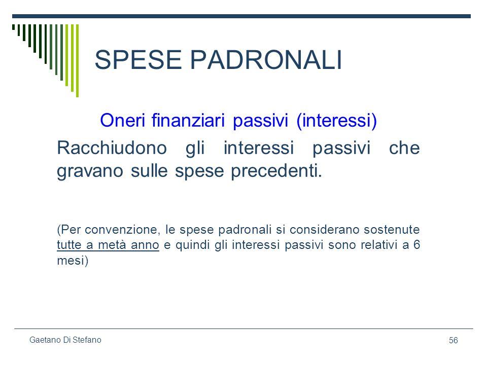 Oneri finanziari passivi (interessi)