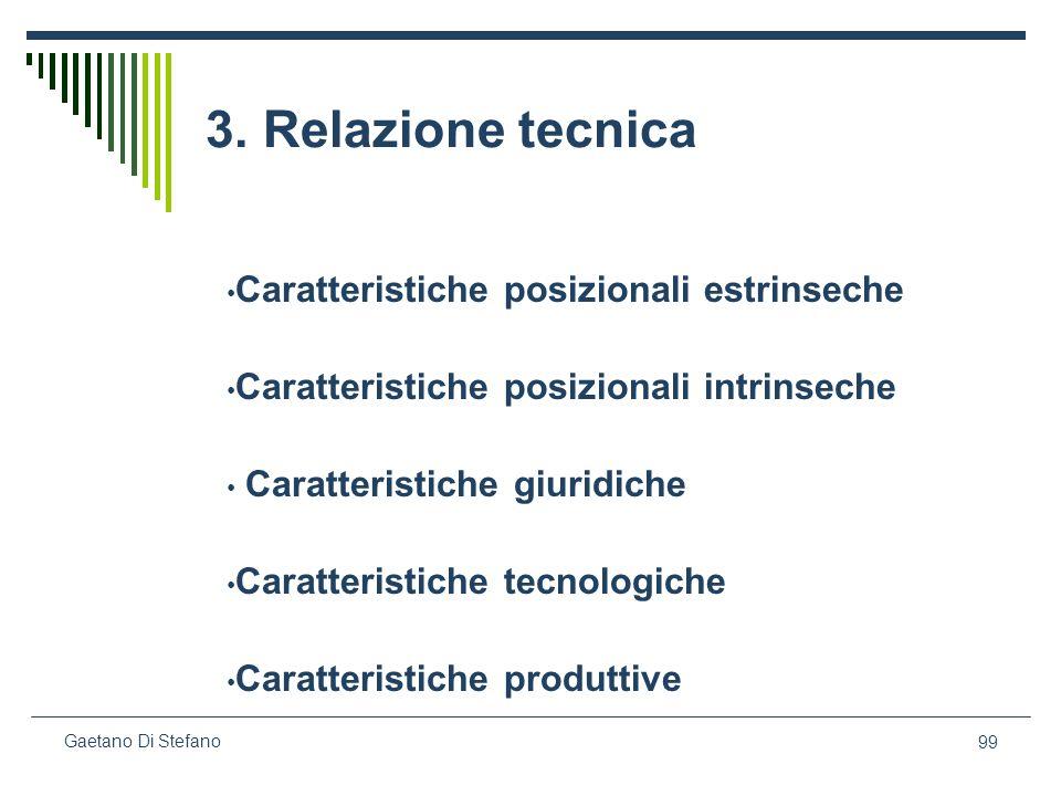 3. Relazione tecnica Caratteristiche posizionali estrinseche