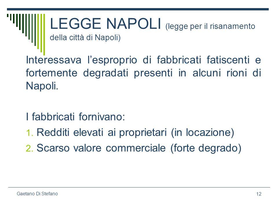 LEGGE NAPOLI (legge per il risanamento della città di Napoli)