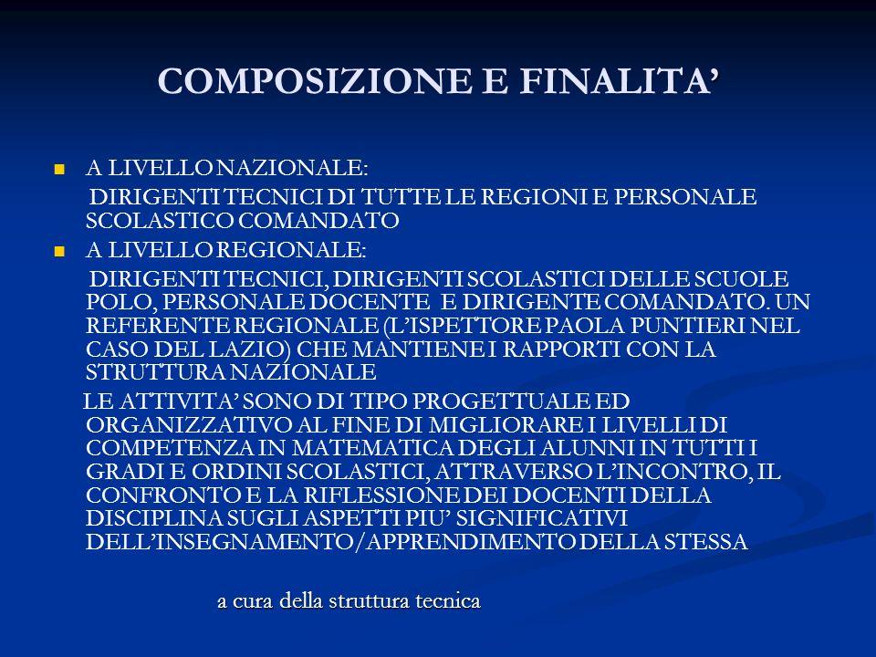COMPOSIZIONE E FINALITA'