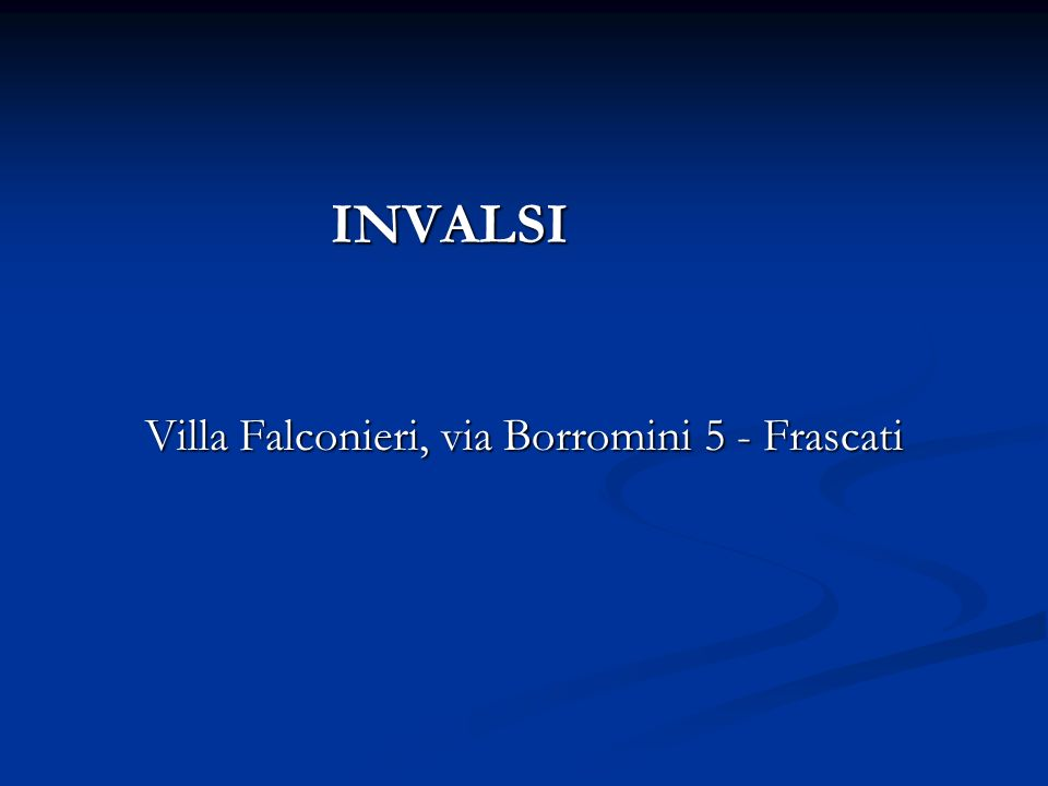 Villa Falconieri, via Borromini 5 - Frascati