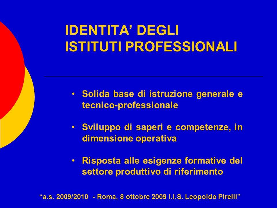 IDENTITA' DEGLI ISTITUTI PROFESSIONALI
