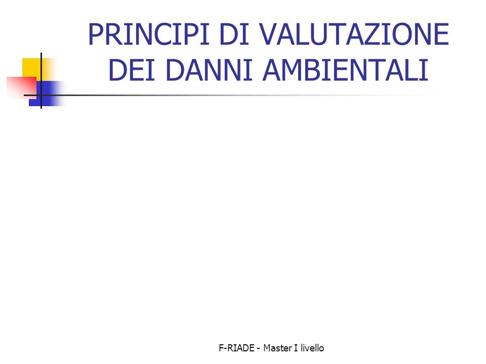PRINCIPI DI VALUTAZIONE DEI DANNI AMBIENTALI