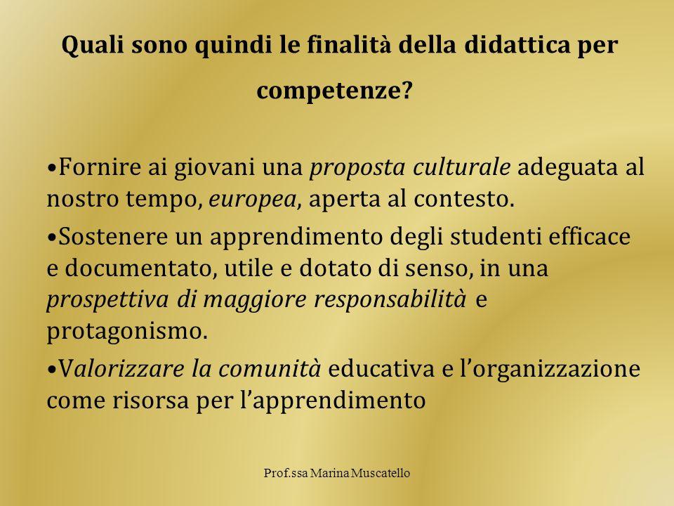 Quali sono quindi le finalità della didattica per competenze