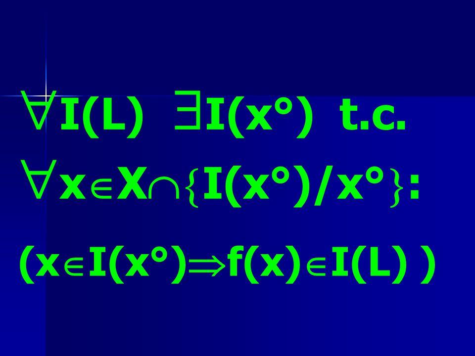 I(L) I(x°) t.c. xXI(x°)/x°: (xI(x°)f(x)I(L) )
