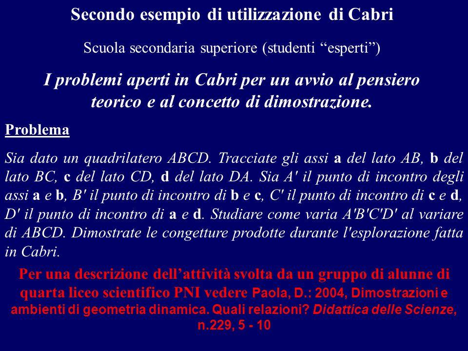 Secondo esempio di utilizzazione di Cabri