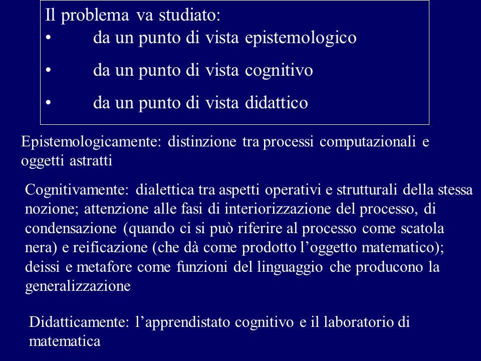Il problema va studiato: da un punto di vista epistemologico