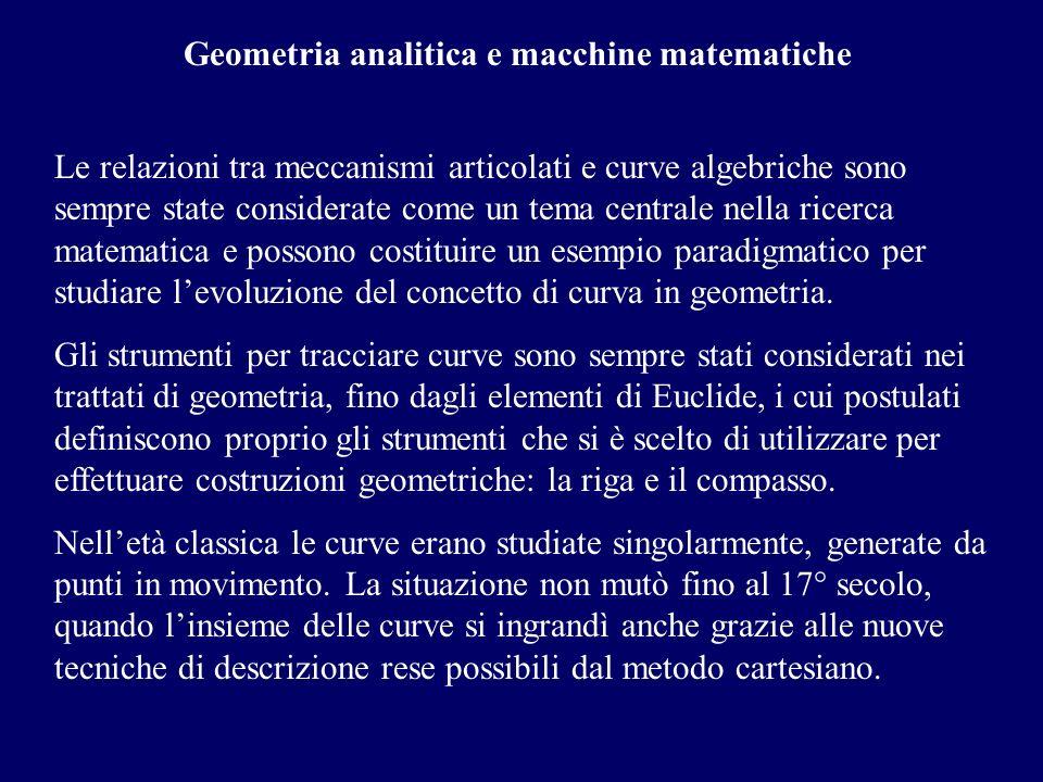 Geometria analitica e macchine matematiche