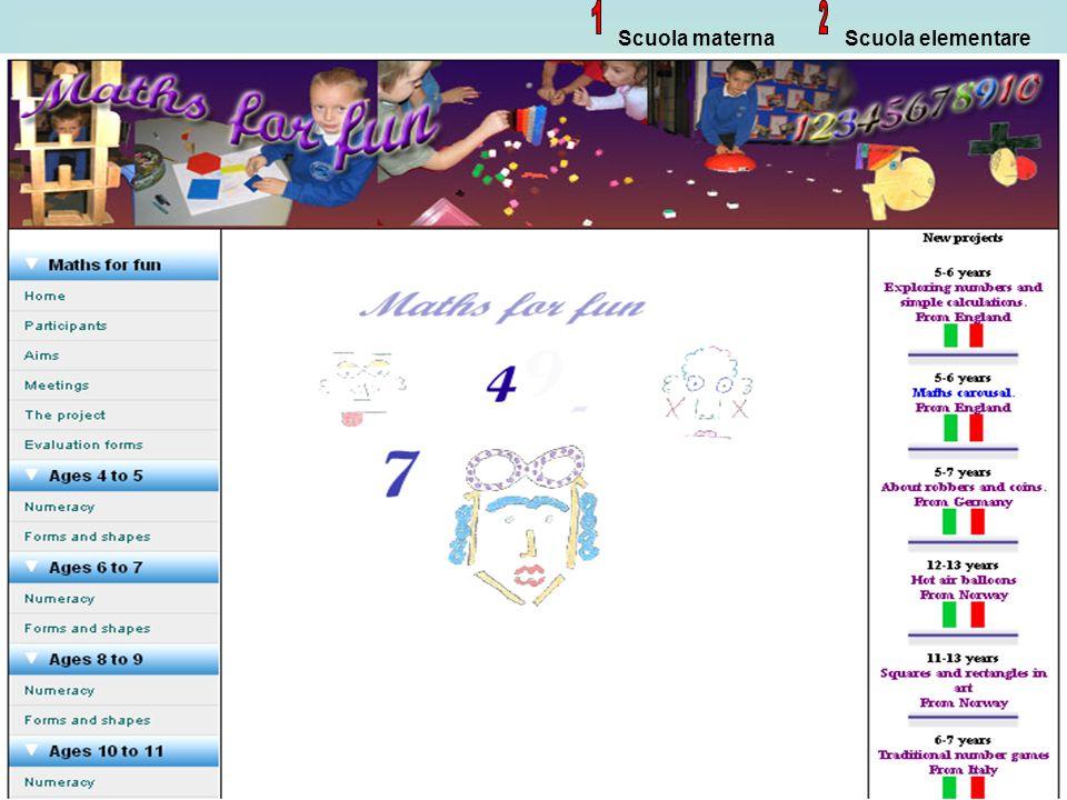 Scuola materna 1 Scuola elementare 2