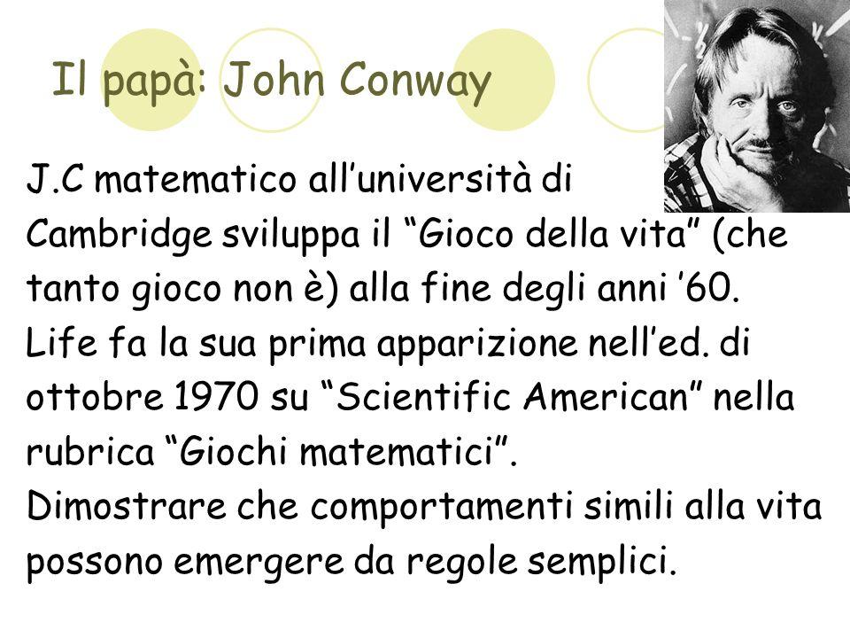Il papà: John Conway J.C matematico all'università di