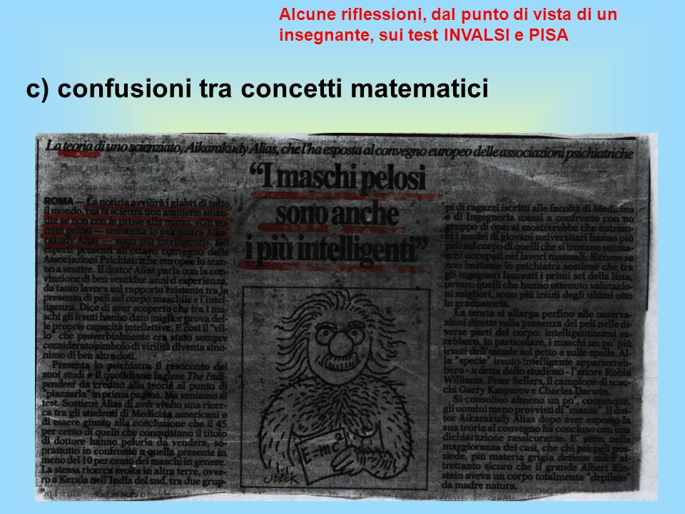 c) confusioni tra concetti matematici