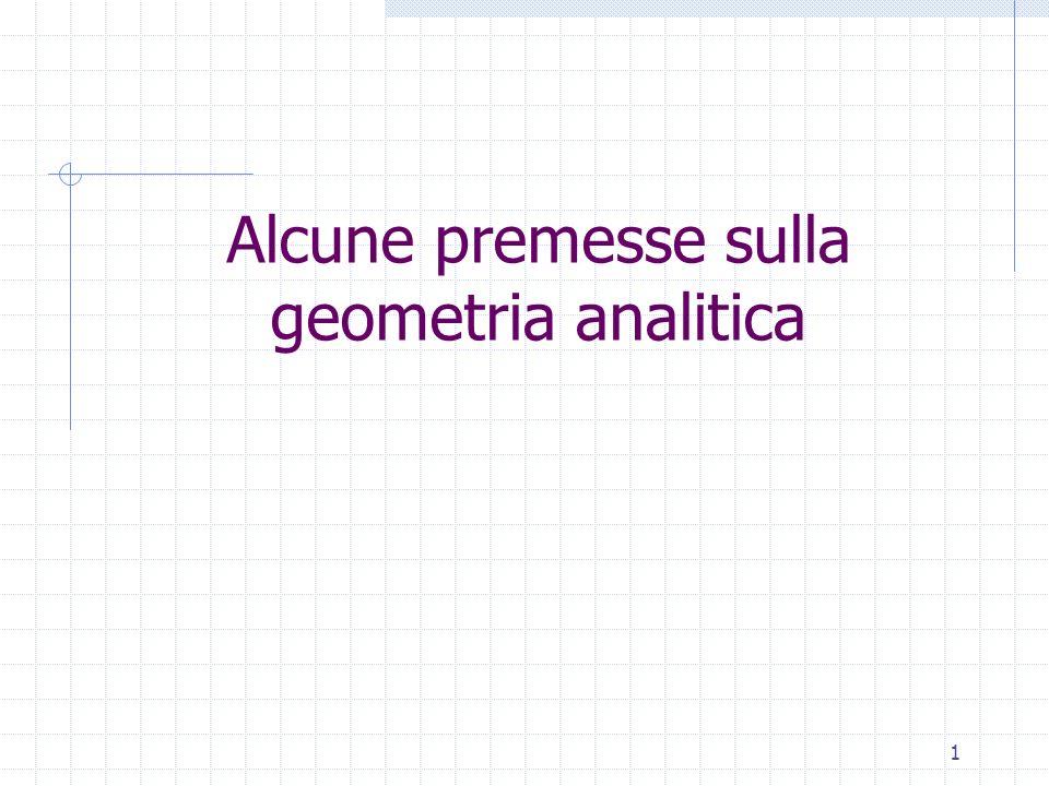 Alcune premesse sulla geometria analitica