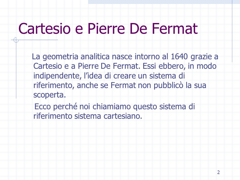 Cartesio e Pierre De Fermat