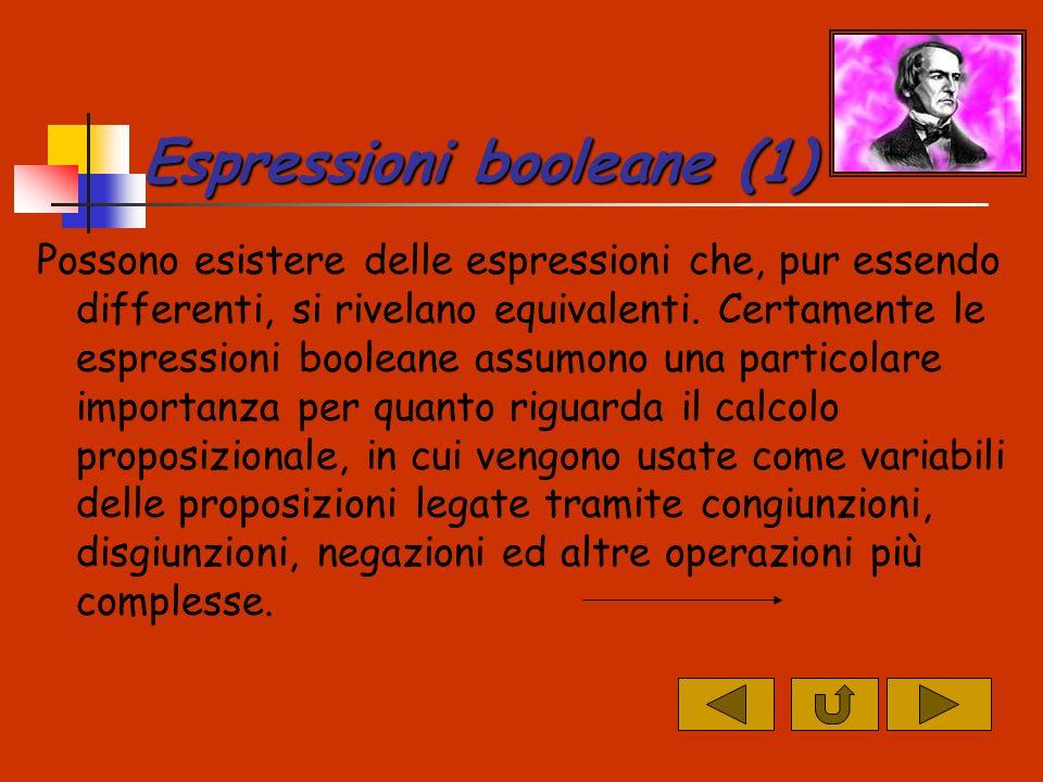 Espressioni booleane (1)