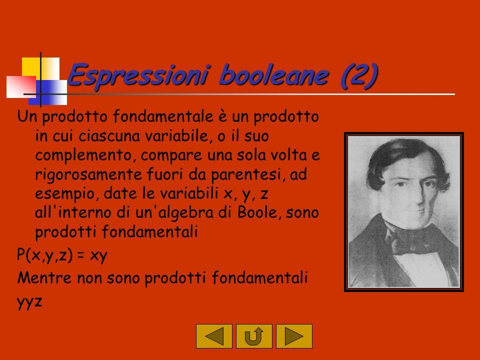 Espressioni booleane (2)