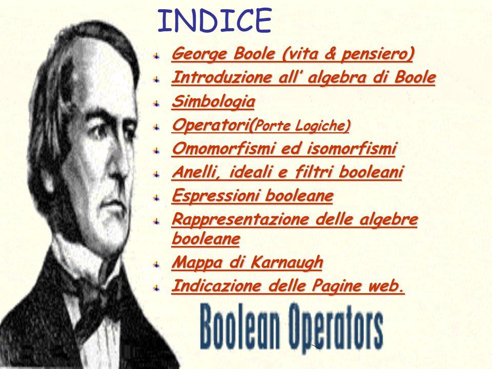 INDICE George Boole (vita & pensiero)