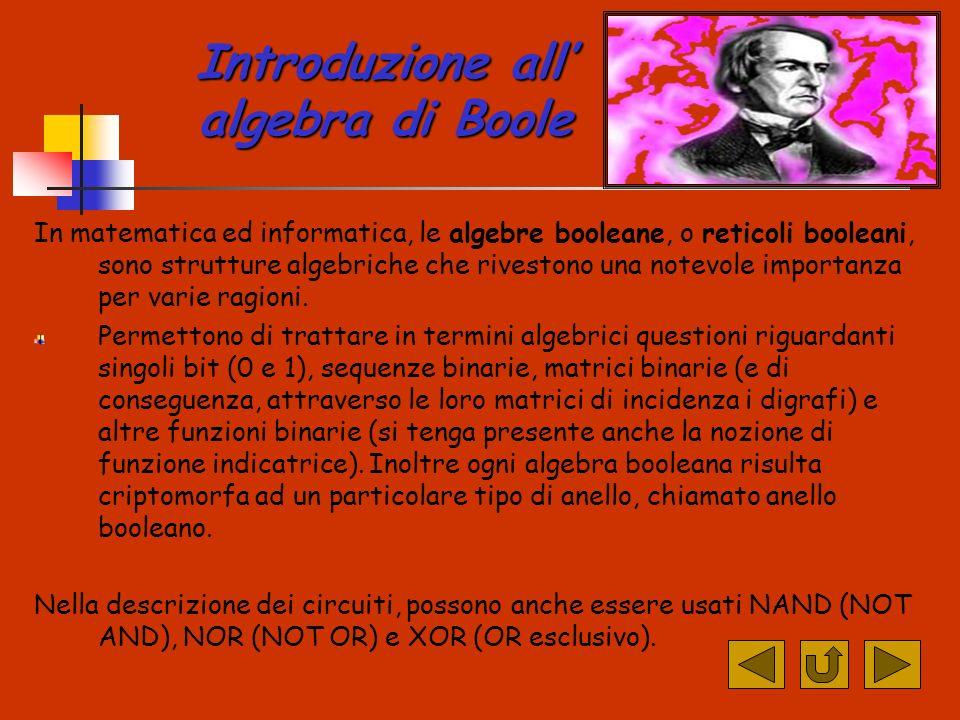 Introduzione all' algebra di Boole