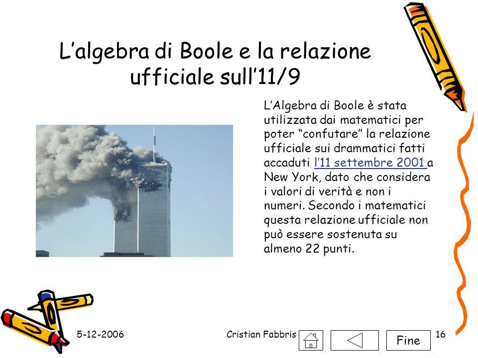 L'algebra di Boole e la relazione ufficiale sull'11/9