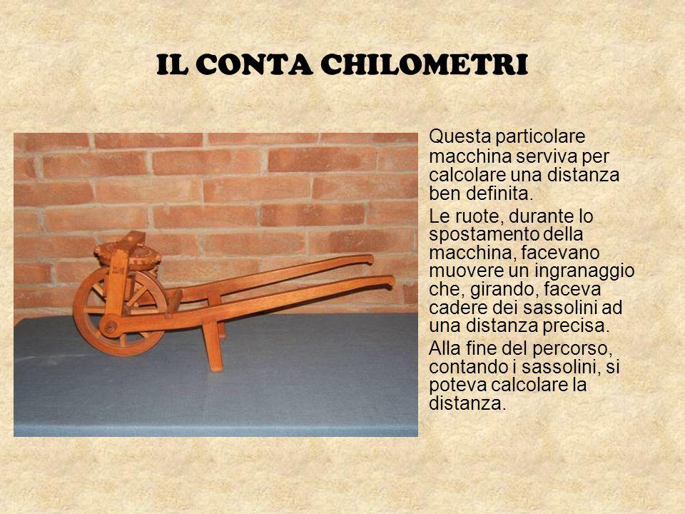 IL CONTA CHILOMETRI Questa particolare macchina serviva per calcolare una distanza ben definita.