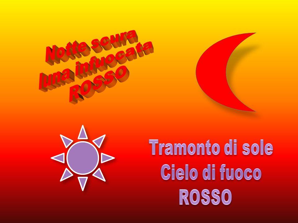 Notte scura luna infuocata ROSSO Tramonto di sole Cielo di fuoco ROSSO
