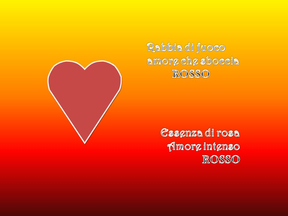 Rabbia di fuoco amore che sboccia ROSSO Essenza di rosa Amore intenso ROSSO