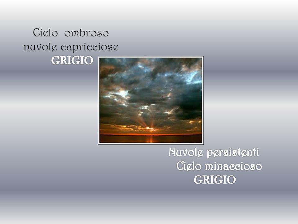 Cielo ombroso nuvole capricciose GRIGIO Cielo minaccioso GRIGIO