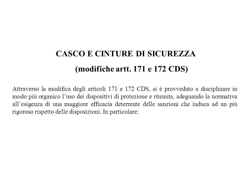 CASCO E CINTURE DI SICUREZZA