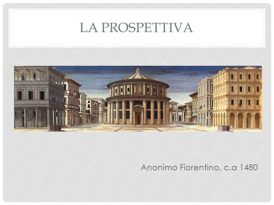 La prospettiva Anonimo Fiorentino, c.a 1480