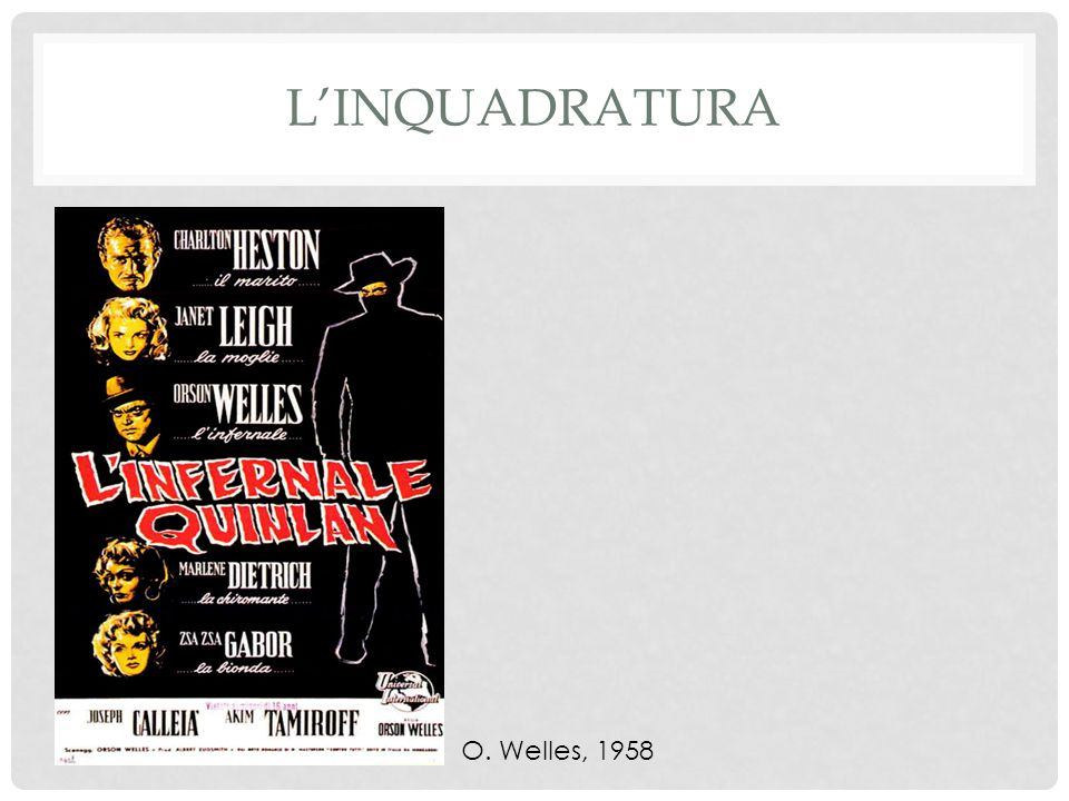 L'inquadratura O. Welles, 1958