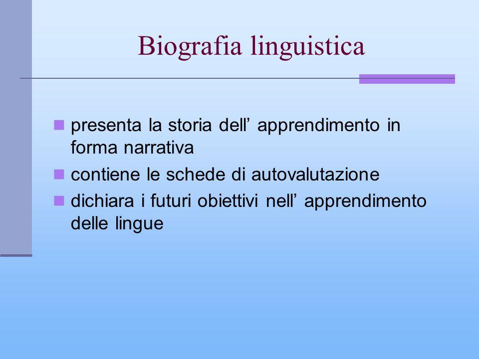 Biografia linguistica