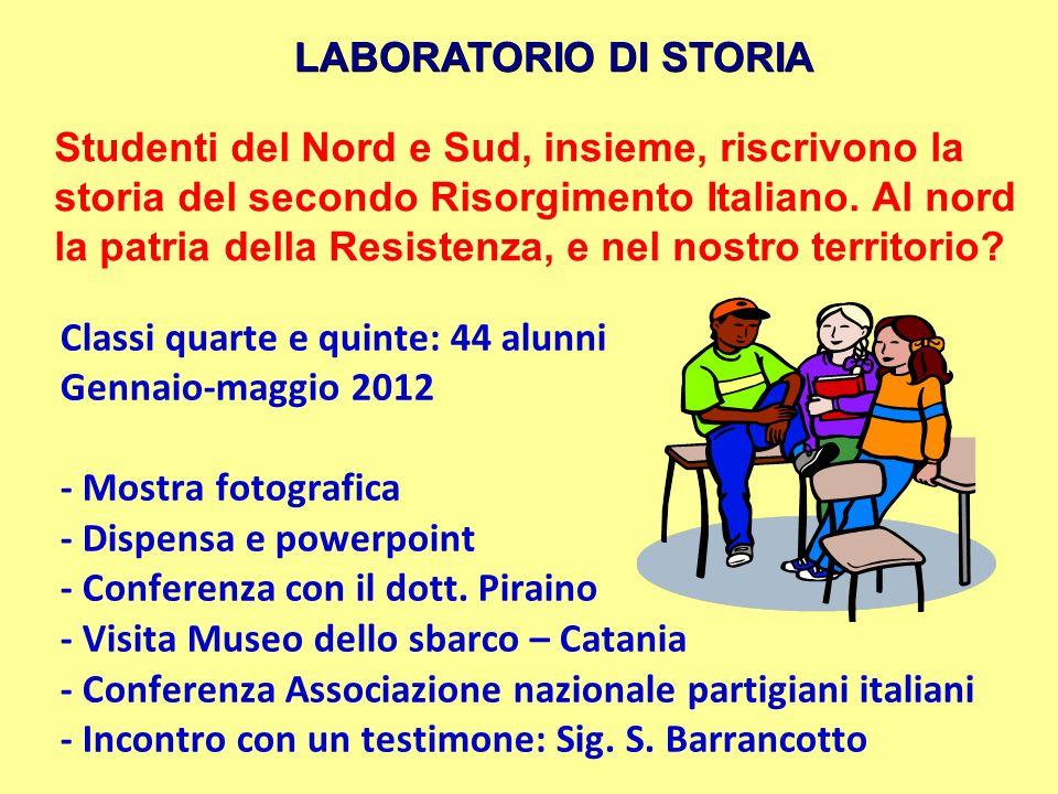 LABORATORIO DI STORIA