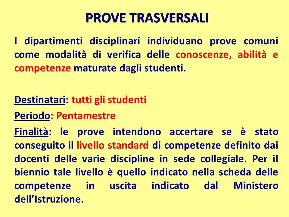 PROVE TRASVERSALI
