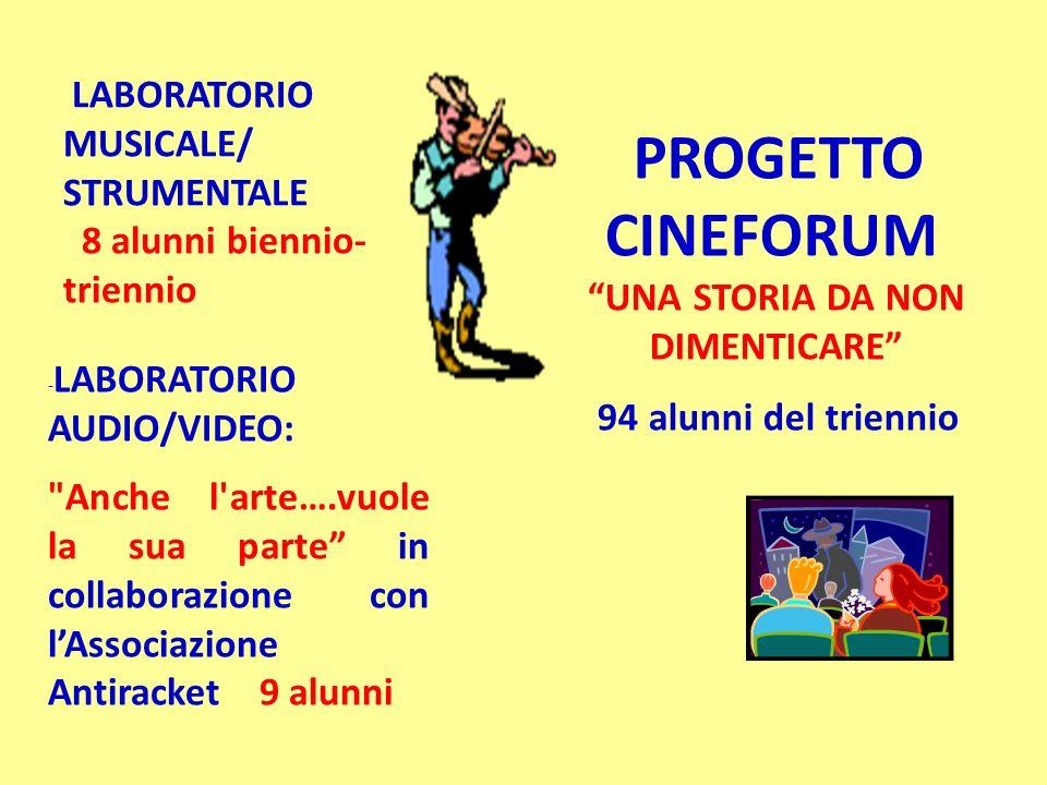 LABORATORIO MUSICALE/ STRUMENTALE 8 alunni biennio-triennio