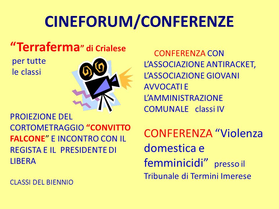 CINEFORUM/CONFERENZE