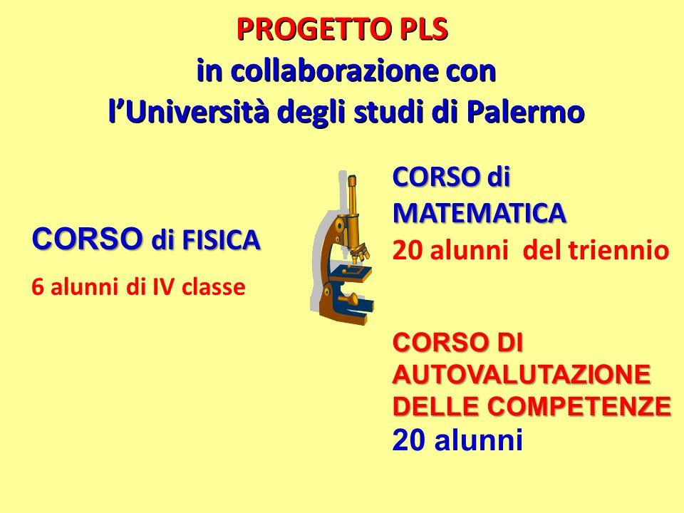 PROGETTO PLS in collaborazione con l'Università degli studi di Palermo