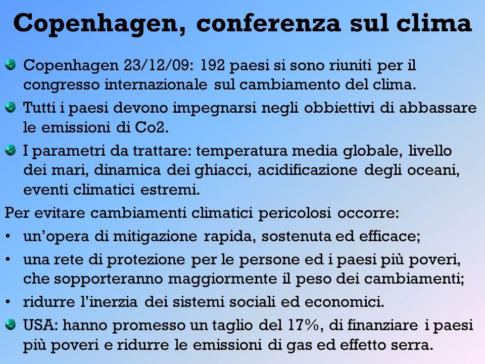 Copenhagen, conferenza sul clima