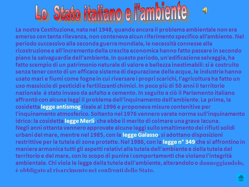 Lo Stato italiano e l ambiente