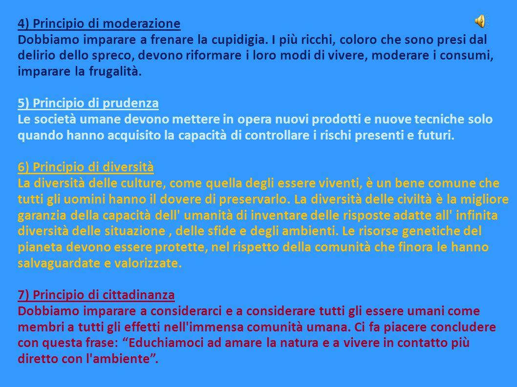 4) Principio di moderazione