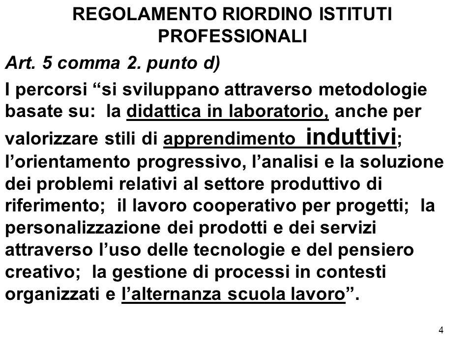 REGOLAMENTO RIORDINO ISTITUTI PROFESSIONALI