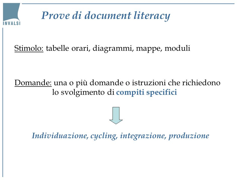 Prove di document literacy