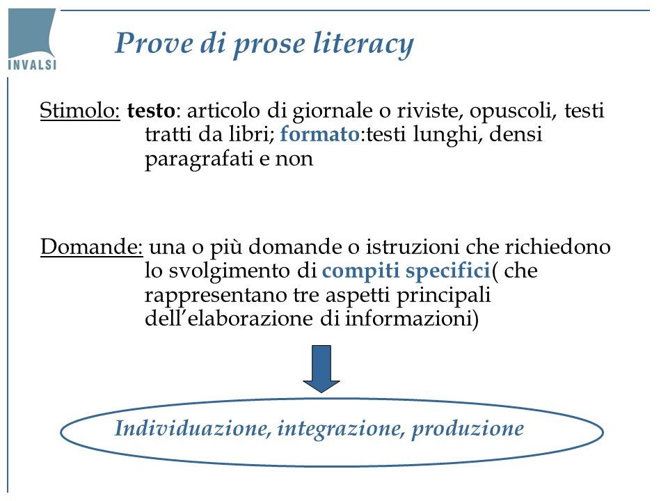 Prove di prose literacy