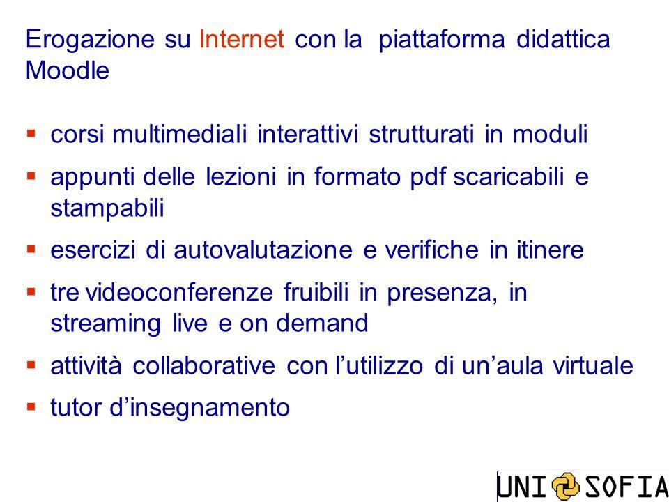 Erogazione su Internet con la piattaforma didattica Moodle
