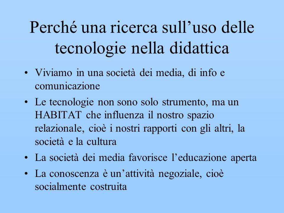 Perché una ricerca sull'uso delle tecnologie nella didattica