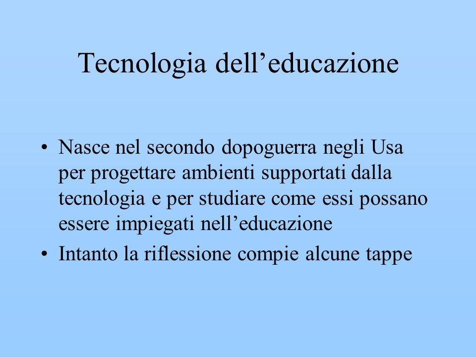 Tecnologia dell'educazione