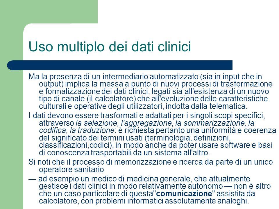 Uso multiplo dei dati clinici