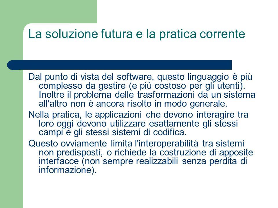 La soluzione futura e la pratica corrente